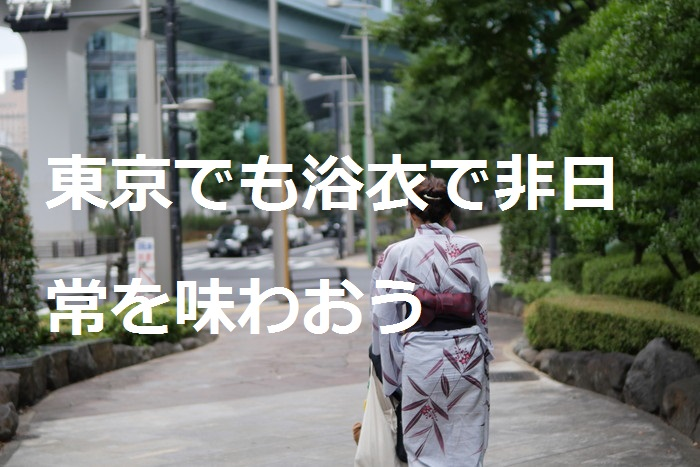 浴衣でお出掛けして非日常を味わう【日本庭園編】