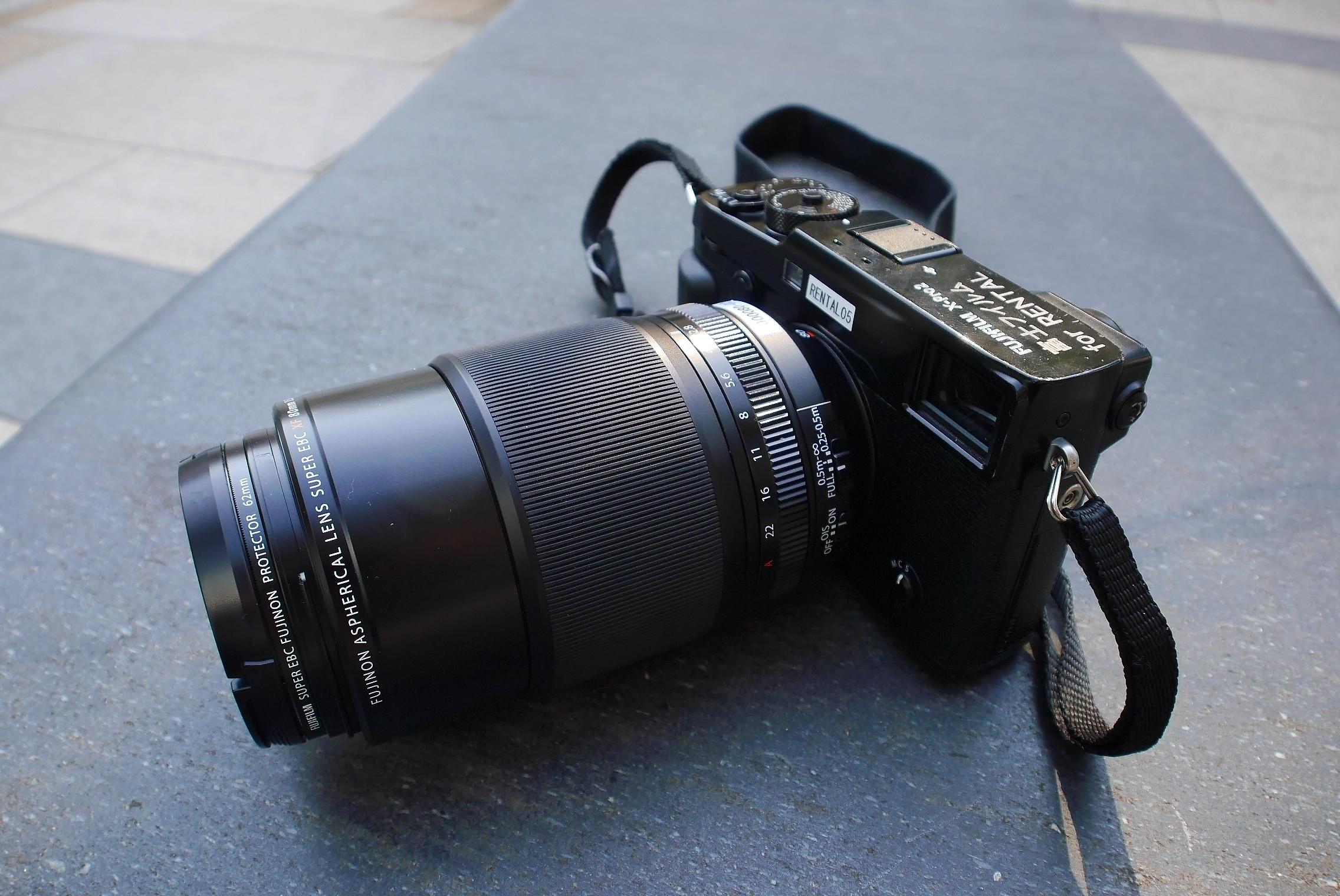 x-Pro2にxf80mmf2.8を装着