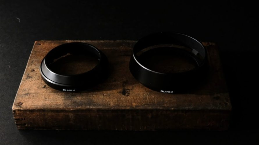 XF23㎜f2のレンズフードがイマイチ。純正のXF35mmF2用レンズフード LH-XF35-2がかっこいい。