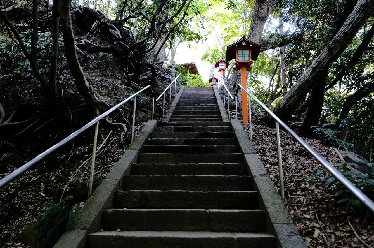等々力不動尊へ続く階段