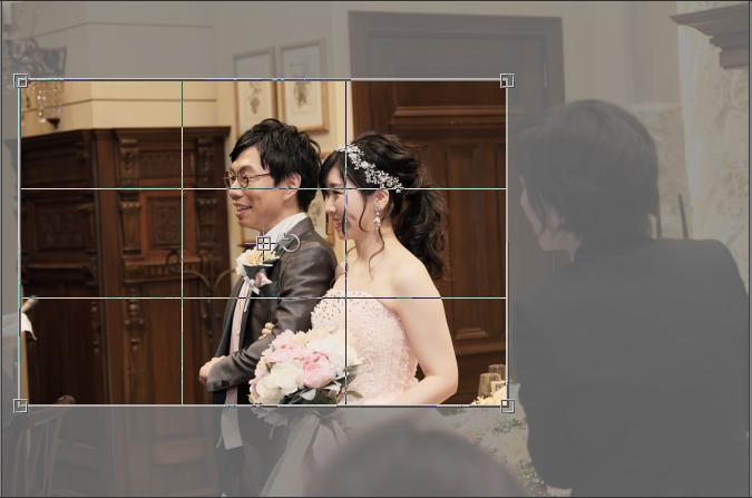 トリミング 結婚式 作例