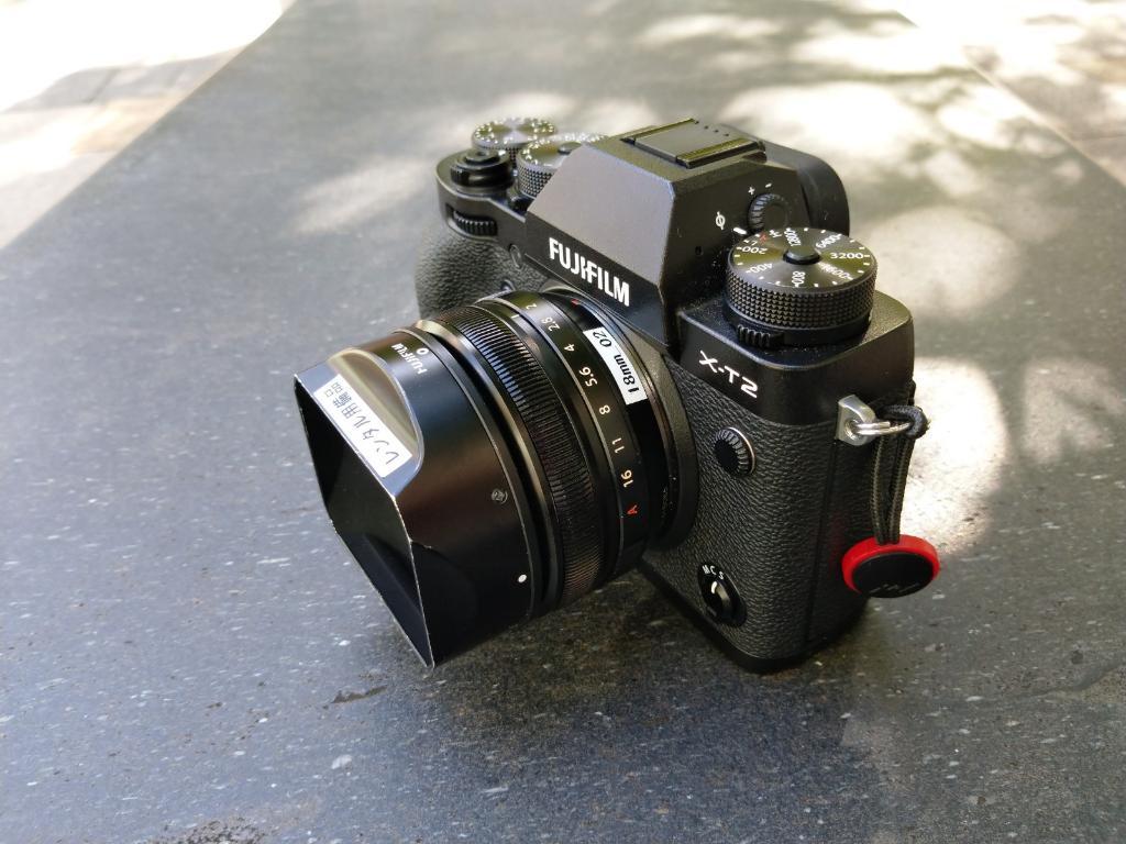 XF18mmf2とX-T2