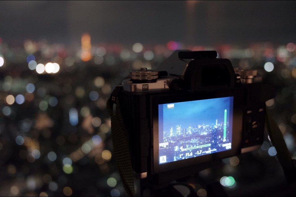 東京タワーとカメラ