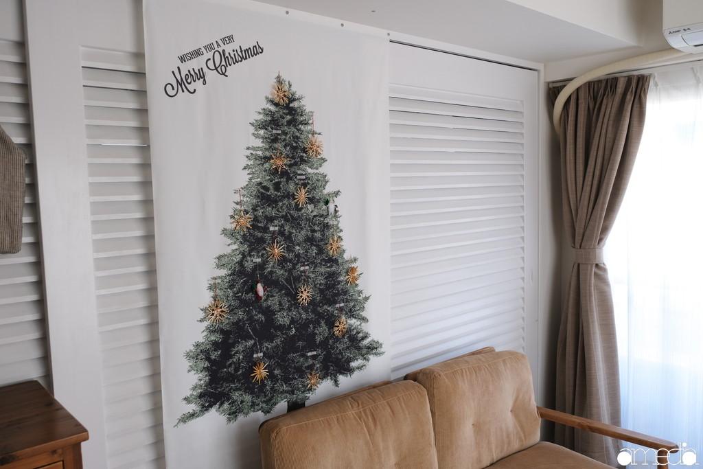タペストリークリスマスツリー