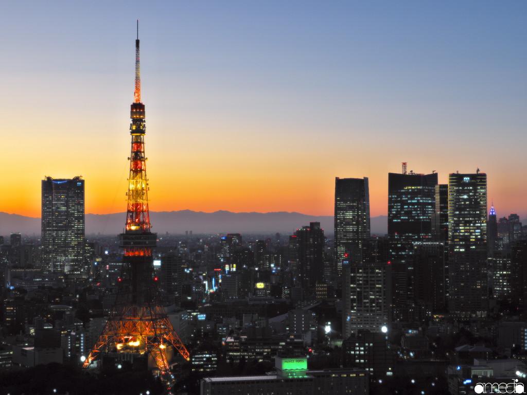 世界貿易センタービル 東京タワー夜景